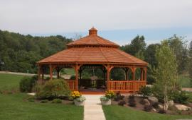 Gazebo with Pagoda style gazebo stain wood
