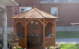 Gazebo 8x10 Wood with hexagon roof