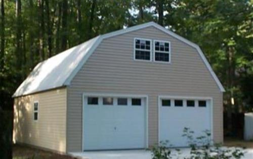 Custom built 2 barn style garage for Garage 24x30