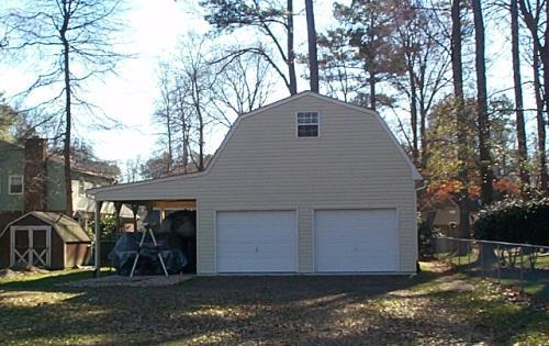 Custom built 2 story with lean to barn style for 24x30 garage plans