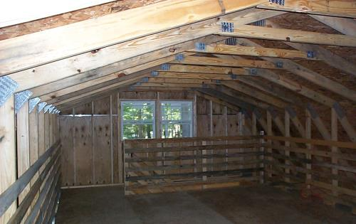 2 Story barn style with OSB chord trusses