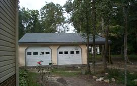 24x24 Garage with steel garage doors