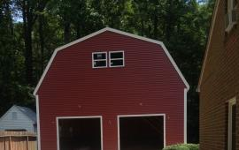 Barn style 14 foot walls with colored siding