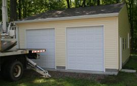 Garage Shed Roof Style Garage with one Service Door