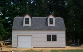 Garage Barn Style with custom colored trim