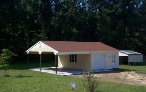 Custom built 20x24 garage with lean to for Lean to addition to garage