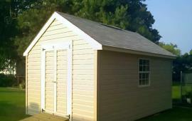 Shed 12x16 with double outswing doors