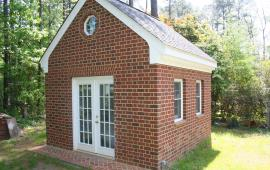 Shed all brick exterior finish