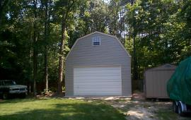 22x30 large garage built with custom gable end trim