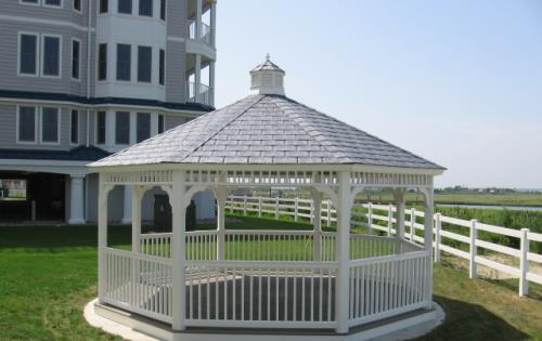 Gazebo white vinyl Octagon roof