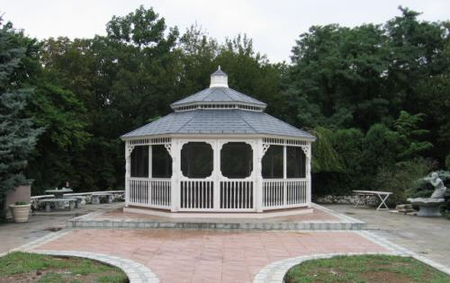 Gazebo white vinyl with matching cupola