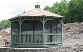 Gazebo custom painted hexagon roof