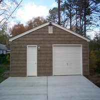 24x24 Cedar Shake Garage in Hampton