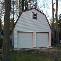 24x24 Gable Garage in Newport News