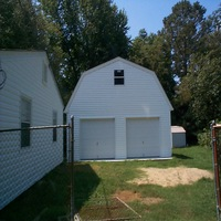 24x24 Gambrel roof Garage in Hampton