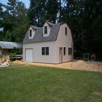 24x30 Garage with dormers in Smithfield
