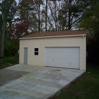30x30 Steel Garage in Hampton