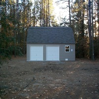 24x24 Garage with windows in Smithfield