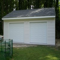One story with overhang Garage in York County