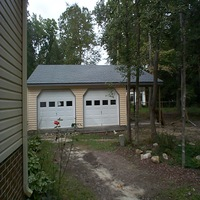 24x24 Garage with steel doors in Hampton