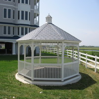 White Vinyl Gazebo in Suffolk