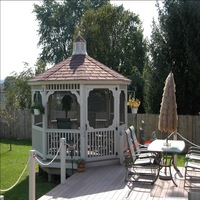 Gazebo with y posts in Newport News
