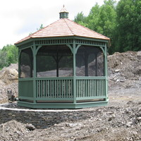 Gazebo with hexagon roof in Suffolk